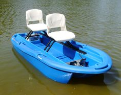 The Twin Troller X10 by Freedom Electric Marine is a 2 person fishing boat that features a patented electric propulsion system and hands free foot control.