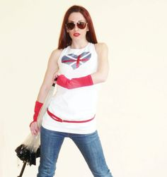 Spring Women Heart Vest Presents Great Britain Flag  by zigzagflag, $36.00