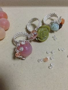 Silver crochet ring