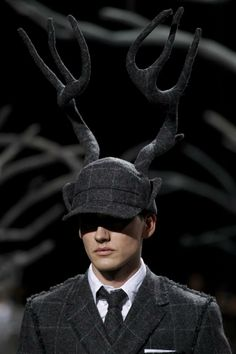 Stephen Jones for Thom Browne Mens AW 2014.