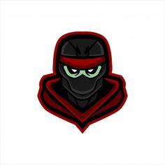 Ninja E Sports Logo Gaming Mascot Stock Vector (Royalty Free) 1623772273 Cyber Ninja, Wolf Silhouette, Logo Basketball, Sports Logo, Logo Templates, Logo Design, Logos, Prints, Gaming