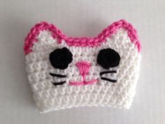 Pretty in pink cat cup cozy (for hot or cold drinks) Can be customized to match your Cat!