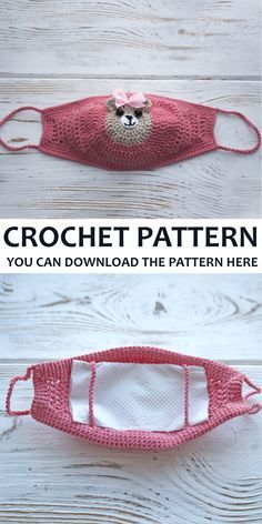 # how to crochet a face mask pattern Crochet Mask, Crochet Faces, Easy Crochet, Free Crochet, Knit Crochet, Crochet Teddy, Free Knitting, Sewing Patterns Free, Sewing Tutorials
