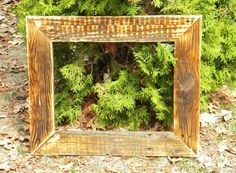 Reclaimed Wood Picture Frame, Large Wooden Frame, Distressed Wood, Repurposed Pallet, Rustic Picture Frame, Rustic Home Decor, 11 x 14 Frame on Etsy, $35.00