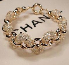 Beautiful Chanel Gold Diamond Bracelet