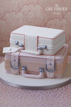 Stacked Suitcases Cake
