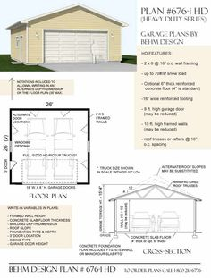 Heavy Duty Series 2 Car Garage Plan 676-1HD by Behm Design