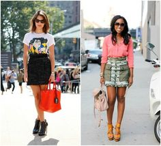 shorter summer skirts