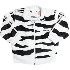 ADIDAS BY JEREMY SCOTT White Tiger Printed Jacket & Pants -... ($73) ❤ liked on Polyvore featuring jackets