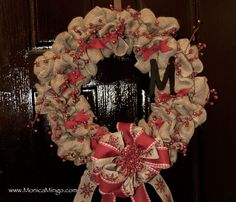 How to Make a Burlap Wreath - EASY AND INEXPENSIVE!