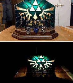 Light up Zelda trinket/charm display.