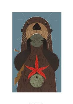 Otterly Delicious, by Charley Harper