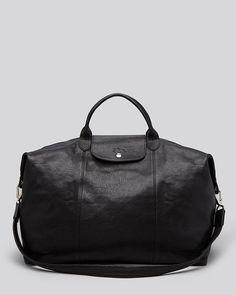 f97ec1a17543 Longchamp Weekender - Le Pliage Cuir Handbags - Bloomingdale s