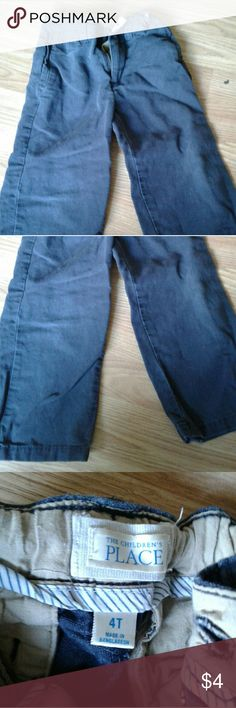 Boys uniform pants These navy blue pants are worn by my son in kindergarten. He was very short. :) Still in great shape. A little faded from repeated washing. Children's Place Bottoms Casual
