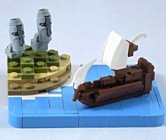 LEGO Easter Island by @letrangerabsurde. Follow @brickinspired for more #LEGO inspiration! #brickinspired