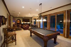 Stylish recreation and billiards room in Plan 013S-0010 | House Plans and More