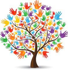 Manos de árbol de color