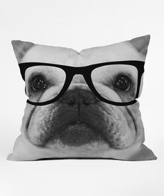 Loving this Hippest Frenchie Fleece Throw Pillow on #zulily! #zulilyfinds