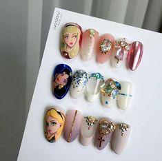 at home nails Garra, Cute Nails, My Nails, Disney Nails, Anime Love Couple, Nail Tutorials, Press On Nails, Nail Trends, Swag Nails