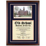 Auburn University (Alabama) Diploma Frame with AU Lithograph Art PrintBy Old School Diploma Frame Co.