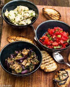 Three easy and delicious Italian bruschetta recipes. A must for this summer season!