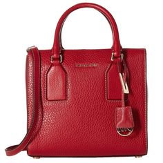 Michael Kors Selby Medium Cherry Crossbody Satchel Handbag