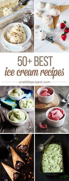 50+ Best Ice Cream Recipes - These look SO DELICIOUS! And most of them can be made without an ice cream maker!