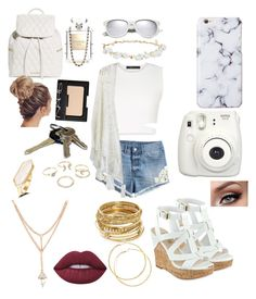 Untitled #80 by kins21 on Polyvore featuring polyvore, moda, style, BCBGMAXAZRIA, Chicwish, H&M, GUESS, Vera Bradley, ABS by Allen Schwartz, Lipsy, Design Lab, Yves Saint Laurent, Lime Crime, NARS Cosmetics, Chanel, Fujifilm, fashion and clothing