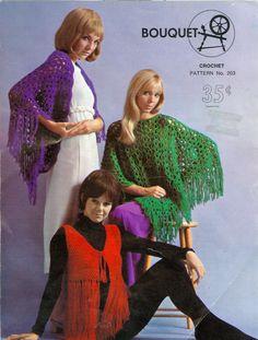 Shawl Fringed Bolero & Poncho Crochet Pattern PDF by dianeh5091