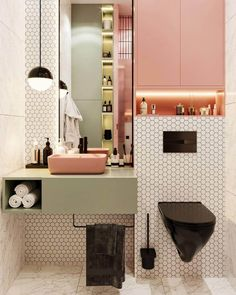 Bathroom Wall Decor, Bathroom Colors, Bathroom Interior Design, Bathroom Kids, Small Bathroom Layout, Toilet Design, Bathroom Inspiration, Spa Rooms, New Homes