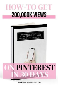 This course will show you the exact strategies and formula I have created that had me going from 0-200,000K monthly viewers on my Pinterest. And it only took me 30 days.  In this course, I expose all of my Pinterest secrets and the keys to unlock the highest placement in Pinterest's 2020 SEO code. This shows you exactly how I set up my Pinterest and the most asked questions I receive about how I grew my views so dramatically, and in such a short period of time.