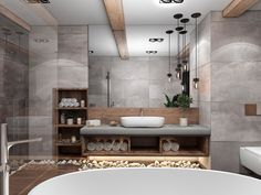 Bathroom Inspiration // Architecture DeluxThe Perfect Scandinavian Style Home - Bathroom Ideas Bathroom Spa, Bathroom Layout, Modern Bathroom Design, Bathroom Interior Design, Small Bathroom, Master Bathroom, Budget Bathroom, Bathroom Shelves, Bathroom Renovations