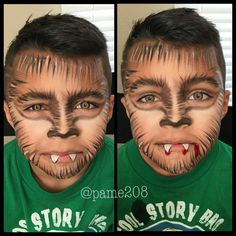 Result of image of wolf child pintacaras - Easy Make Up Kids Zombie Makeup, Wolf Halloween Costume, Halloween Makeup For Kids, Cute Couple Halloween Costumes, Kids Costumes Boys, Up Halloween, Werewolf Face Paint, Werewolf Makeup, Boys Werewolf Costume