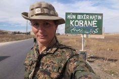 A Canadian female fighter among YPJ, in Kobanî.