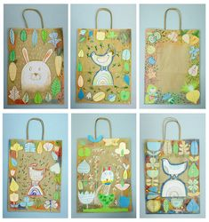 Spring Art on paper bags Kids Art Class, Art For Kids, Drawing For Kids, Painting For Kids, Kindergarten Projects, Easter Art, Kids Artwork, Spring Art, Art Lessons Elementary