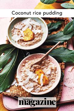 Comforting and delicious, this dessert recipe by chef Zoe Adjonyoh is more exciting in flavour than traditional rice pudding thanks to creamy coconut and warming spices. Get the Sainsbury's magazine recipe Coconut Rice, Toasted Coconut, Pudding Recipes, Dessert Recipes, Desserts, Ghanaian Food, Magazine Recipe, Sticky Toffee Pudding, Potato Skins