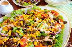 Try this Big Mac salad when you're in the mood for one of the famous fast food burgers. It's easy to assemble this low carb hamburger salad at home.