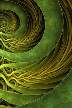 Green Marble Arcs by ~halakimok on deviantART