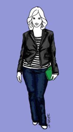 Die X-Figur im Lagen-Look: Ein stark taillierter, kürzerer Blazer als äußerste Schicht passt immer, betont die Figur und hält so den Look zusammen.