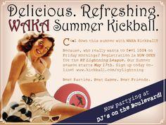 Retro Flyer Design for WAKA Kickball  @WAKA_Kickball
