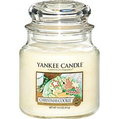 Yankee Candle Christmas Cookie Candle  -- one of my favorite scents!