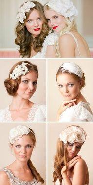 tocados de novia con plumas