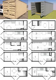 24 Ideas container house plans design layout for Shipping Container Home Designs And Plans - Container . Building A Container Home, Building A Tiny House, Storage Container Homes, Container Design, Tiny House Plans, House Floor Plans, Container Home Plans, Storage Containers, Shipping Container Home Designs