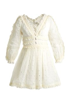 Winsome embroidered cotton-organdy dress   Zimmermann   MATCHESFASHION.COM