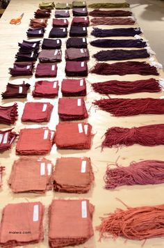 DIY Natural Dyes ( full instructions) : Maiwa dyeing , fabulous blog! Or just use the pictures to have an idea what colors are period.