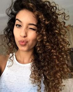 Want to wake up with curls but can't decide between spiral perm vs regular perm? We're telling you everything you need to know about spiral perm hairstyles! Tumblr Curly Hair, Curly Hair Styles, Brown Curly Hair, Colored Curly Hair, Long Curly Hair, Natural Hair Styles, Curly Girl, Brown Hair Perm, Curly Hair Dye