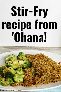 Stir-fry noodle recipe from Ohana - Disney in your Day. Want to recreate the delicious stir-fry from Ohana? This recipe you can make at home is full of flavor! #disneyfood #disneyrecipes #stirfry #ohana Fried Noodles Recipe, Stir Fry Noodles, Disney World Food, Disney Parks, Disney Inspired Food, Types Of Noodles, Buckwheat Noodles, Looks Yummy, Noodle Recipes