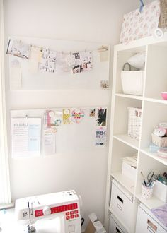 craft sewing room white