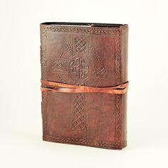 Celtic Cross Leather Wrap Journal