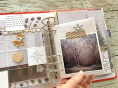 Today I'm sharing a page about the ice storm we had while traveling to my sister's for Thanksgiving. December Daily, Hello December, Christmas Mini Albums, Christmas Journal, Christmas Minis, Christmas Holidays, Scrapbook Cover, Scrapbook Pages, Project Life